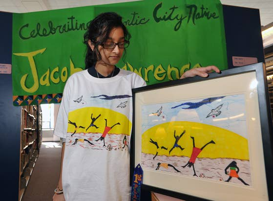 Students honor Atlantic City native and artist with their own works of art