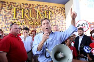 Democratic reps join Local 54 at Taj strike in Atlantic City Sunday