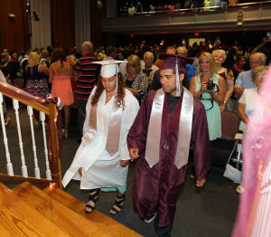 Wildwood High School Graduation: Wildwood High School held their 108th commencement ceremony in the school's Dr. Stanley M. Hornstine Auditorium Tuesday June 17, 2014. (Dale Gerhard/Press of Atlantic City) - Dale Gerhard