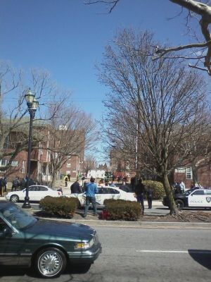 Scene Of Incident In Stanley Holmes Village - Photo by staff writer Derek Harper