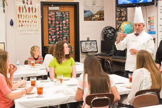 Cape May Tech students give Avalon seventh-graders Titanic lesson in class
