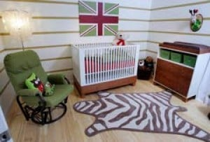 Winning TV designer creates stylish nursery for her child