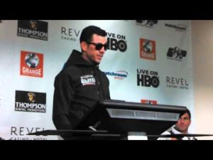Darren Barker postfight interview after Daniel Geale fight