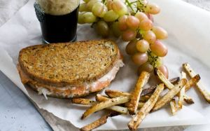 Try salmon for a lighter take on the heavy-duty Reuben