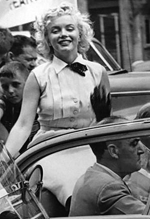 "Miss America Through The Years: Marilyn Monroe was grans marshall of the parade and was also promoting her movie ""Monkey Business"" in 1952 - Miss America photos from the collection of Allen ""Boo"" Pergament. - acp"