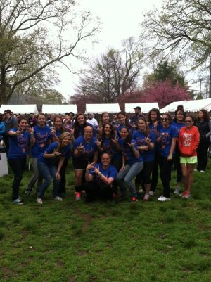 OLMA Softball: The Our Lady of Mercy Academy softball team poses for a photo at the Walk to Cure Psoriasis on April 20 at the Philadelphia Zoo.