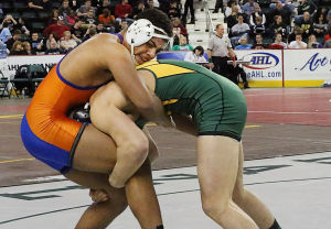 Saturday's results from the state high school wrestling tournament