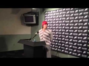 Nick Foles talks about the Eagles' loss to the Redskins, Dec. 23, 2012