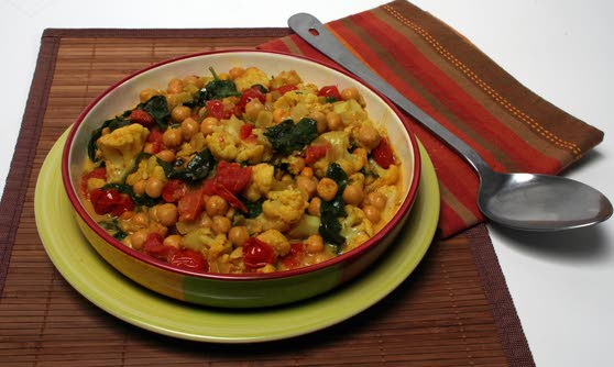 Serve cauliflower curry as side dish or as light, main offering for dinner