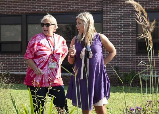 Ocean City Intermediate School adds rain garden to its courtyard