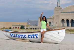 THE NEW MISS AMERICA: Miss America 2014 Nina Davuluri poses on the Atlantic City beach, Monday Sept. 16, 2013. (Staff Photo by Michael Ein/The Press of Atlantic City) - Photo by Michael Ein