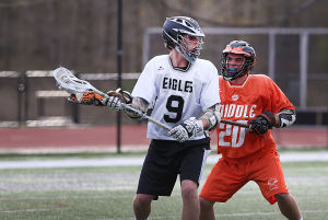 Middle Twp At EHT Boys Lacrosse: Monday May 5 2014 Middle Township at EHT Boys Lacrosse. (The Press of Atlantic City / Ben Fogletto) - Ben Fogletto