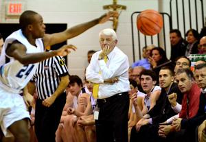 St. Augustine Prep boys basketball coach Paul Rodio records his 776th career win