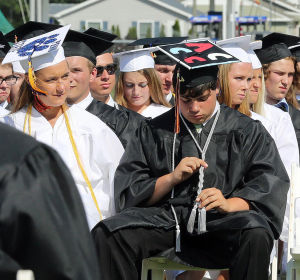 MIddle Township Graduation: Middle Township High School held their 106th annual commencement ceremony on Memorial Field in Cape May Court House. Tuesday June 24, 2014. (Dale Gerhard/Press of Atlantic City) - Dale Gerhard