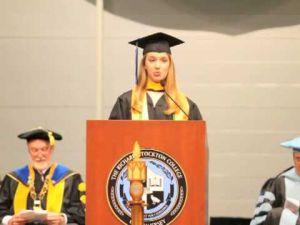 Lynn Abrahamsen, Valedictorian Richard Stockton College