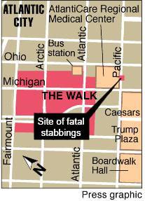 Site of stabbings