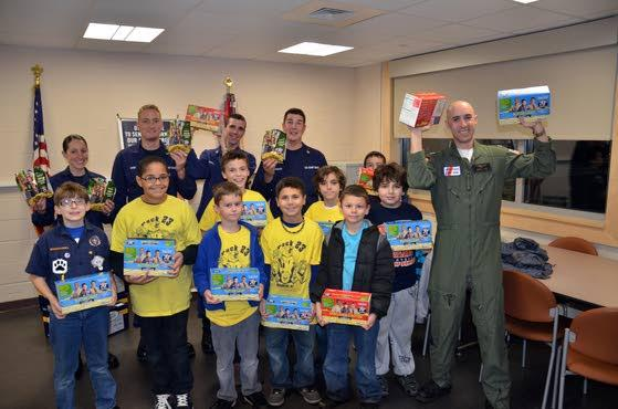 Donation helps Brigantine scouts thank Coast Guard