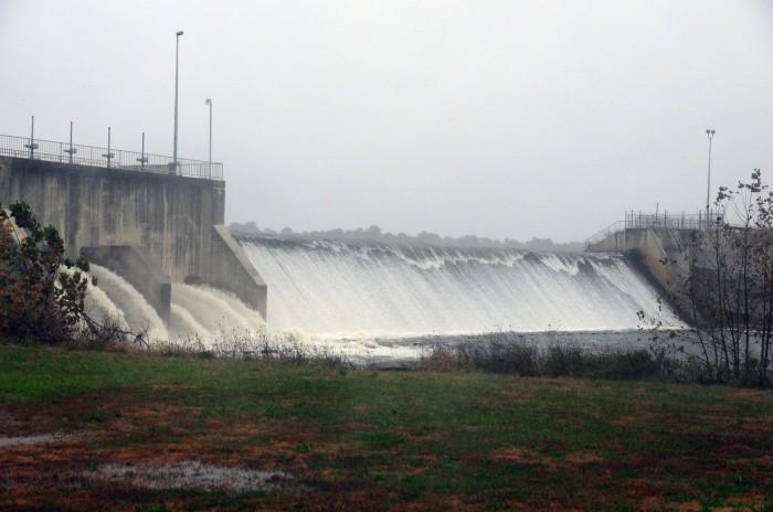 Union lake flood waters