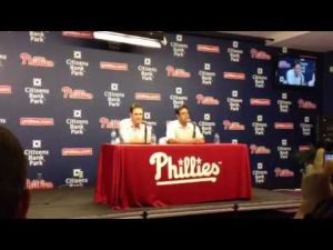 Chase Utley talks about signing contract extension