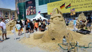 SAND SCULPTING: Sunday June 16 2013 World Championship of Sand Sculpting on the beach next to the Pier at Caesars in Atlantic City. (The Press of Atlantic City / Ben Fogletto)  - Ben Fogletto