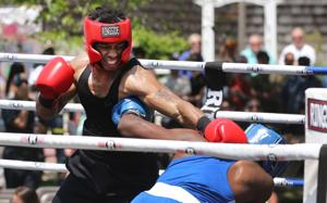 Guns vs. Hoses charity amateur boxing at Gardner's Basin