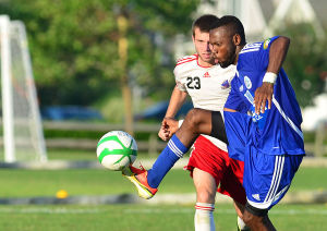 Nor'easters Playoffs: Saturday July 27 2013 Ocean City Nor'easters win semifinal Pro soccer game over the Carolina Dynamo. (The Press of Atlantic City / Ben Fogletto) - Ben Fogletto