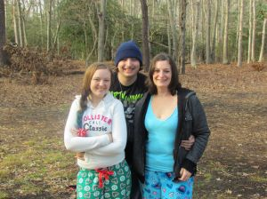 Hankin: Michael Hankins is shown with sister Katie (left) and mom Rebecca