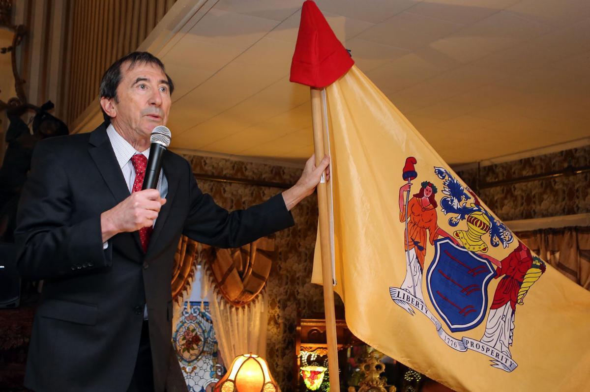 Seth Grossman with New Jersey flag