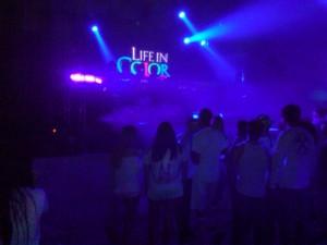 Inside Tent: Crowd surrounds stage inside the tent  - JOEL LANDAU