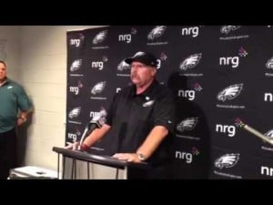 Andy Reid talks about the Eagles' loss to the Cardinals, Sept..23, 2012