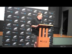 Chip Kelly talks about his first Eagles practice