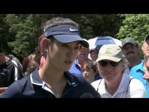Michelle Wie's First Round Interview at the 2013 ShopRite LPGA Classic presented by Acer
