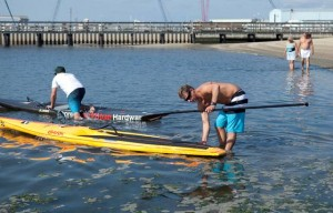 Local men prep for charity event paddle boarding around Manhattan