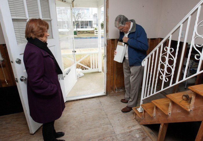 Hurricane Sandy victims at Christmas
