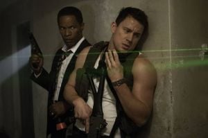 Blame The Shark For Summer-movie Madness: Jamie Foxx, left, and Channing Tatum star in 'White House Down.'