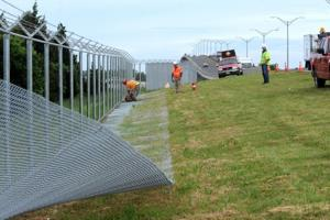 parkway fence down