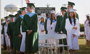Mainland Reg Graduation: Graduates wait to be seated at commencement. Tuesday June 24 2014 Mainland Regional Graduation. (The Press of Atlantic City / Ben Fogletto) - Ben Fogletto