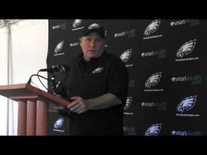Eagles coach Chip Kelly talks about playing Denver