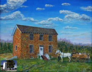 "Multimedia Artist's Work Hits Hammonton: ""The Oldest House in Hammonton"" is among the works by Hammonton artist and photographer Sam Moffa on exhibit at the Hammonton Branch of the Atlantic County Library System through April."