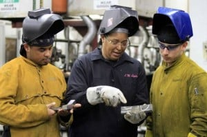 test4A woman teaches men  more than just welding