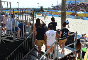 AVP VOLLEYBALL FINALS: People watch women's semi-final. Sunday September 8 2013 AVP beach volleyball tournament in Atlantic City. (The Press of Atlantic City / Ben Fogletto) - Ben Fogletto