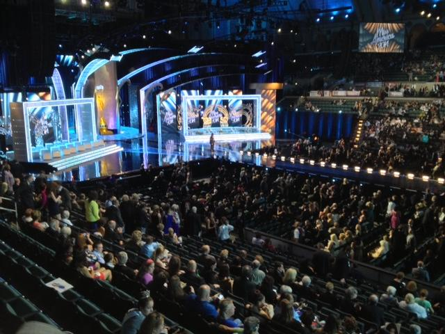 Miss America inside hall