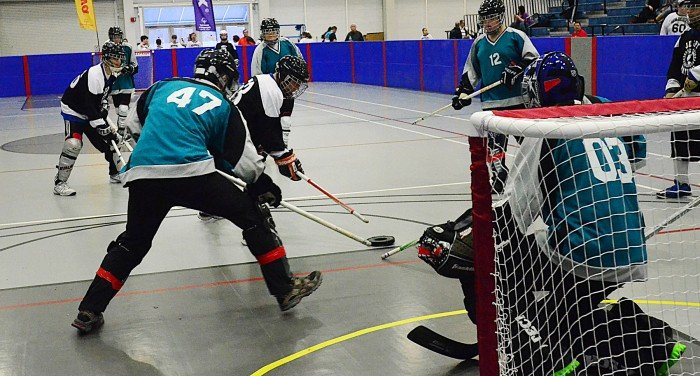special olympics floot hockey
