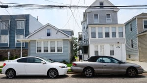 Shore Parking Spaces: Cars park tightly on Washington Avenue in Margate. Sunday June 9 2013 (The Press of Atlantic City / Ben Fogletto)  - Ben Fogletto