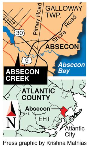 Absecon Creek map
