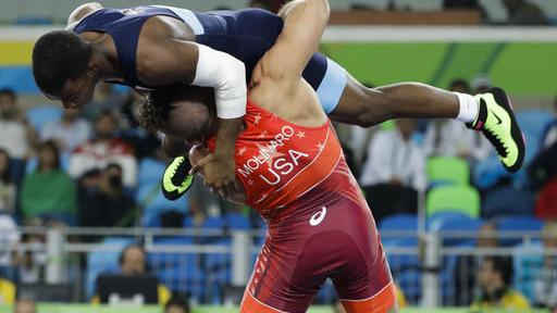 Frank Molinaro wrestles in Rio Olympics