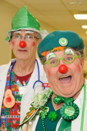 Clowns who careVolunteers don makeup and red noses to bring cheer and support to patients