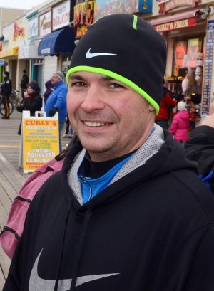 Resolutions: Brian Scheufele, of Dennis Township, has resolved to take part in a triathlon.  - Danny Drake