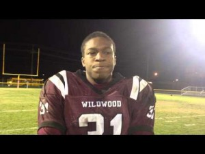Wildwood's Wesley Hills after beating Pitman