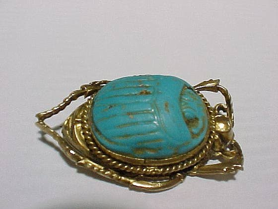 Unusual scarab brooch is a Victorian treasure